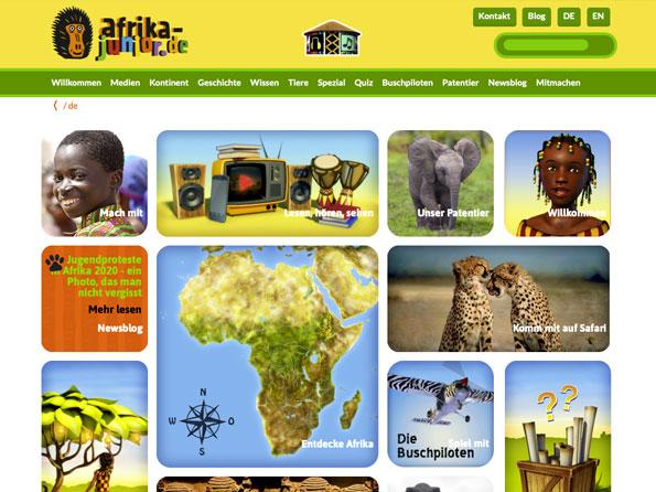 Bildschirmfoto Afrika-Junior