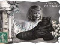 Französische Weihnachtskarte vor mehr als 100 Jahren