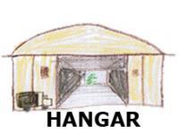 Hangar oder Lagerhalle