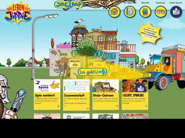 Screenshot Startseite https://www.jippie.life/