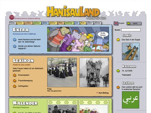 Bildschirmfoto HanisauLand