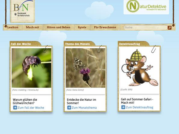 Bildschirmfoto NaturDetektive