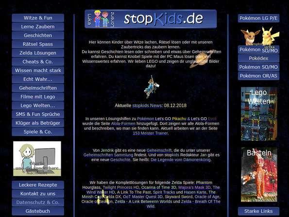 Bildschirmfoto Stopkids