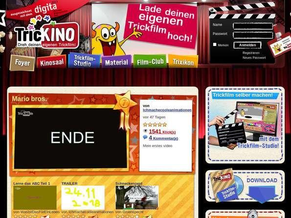 Bildschirmfoto TricKINO