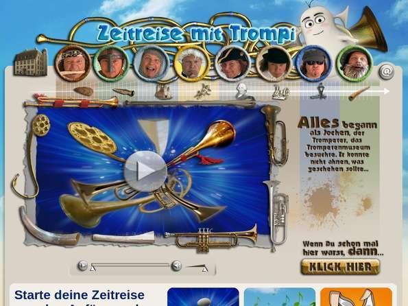 Bildschirmfoto Trompis-Zeitreise