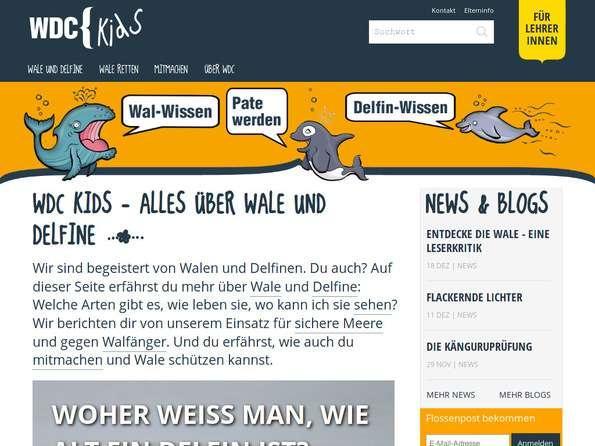 Bildschirmfoto WDC Kids